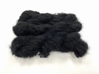 Scottish highland mohair color deep black +50gram +100met