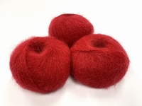 dirty children mohair super soft  color tulip red +-35gram = 315m