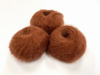 dirty children mohair super soft  color brown +-35gram = 315m